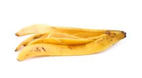 Корка банана на белой предпосылке Стоковая Фотография