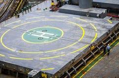 кормка корабля вертодрома зоны Стоковые Фотографии RF