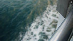 Кормовая съемка, бодрствование океана корабля сток-видео