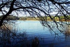 Корнуолл, озеро Loe Стоковые Фотографии RF