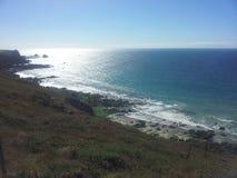 Корнуольская береговая линия стоковые фотографии rf