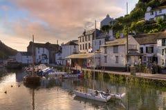 Корнуольский рыбацкий поселок стоковая фотография