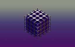 Коробка абстрактной предпосылки металлическая фиолетовая Стоковые Изображения RF