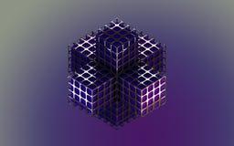 Коробка абстрактной предпосылки металлическая фиолетовая Стоковое Фото