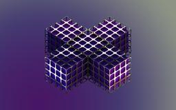 Коробка абстрактной предпосылки металлическая фиолетовая Стоковое фото RF
