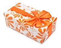 Коробка апельсина присутствующая Стоковое Фото