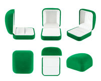 Коробка бархата для изолированного кольца Стоковые Изображения RF