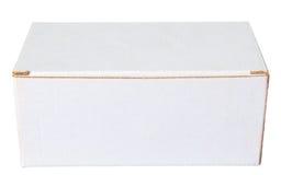 Коробка белой бумаги сделала frome рециркулировать бумагу Стоковые Фото