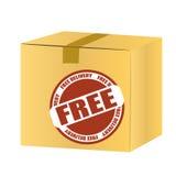 Коробка бесплатной доставки иллюстрация штока