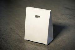 Коробка белой бумаги модель-макета Стоковая Фотография RF