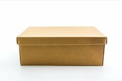 Коробка ботинка Брайна на белой предпосылке с путем клиппирования Стоковые Фото