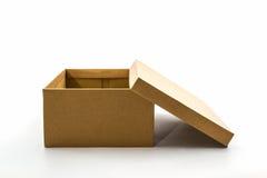 Коробка ботинка Брайна на белой предпосылке с путем клиппирования Стоковые Изображения