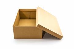 Коробка ботинка Брайна на белой предпосылке с путем клиппирования Стоковая Фотография RF