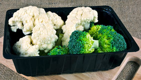 Коробка брокколи и цветной капусты Стоковое Изображение