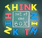 коробка вне думает Стоковая Фотография RF