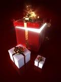 коробка внутри волшебного красного цвета Стоковая Фотография