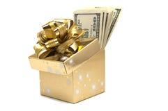 Коробка вполне денег стоковое изображение rf