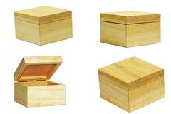 коробка деревянная Стоковая Фотография