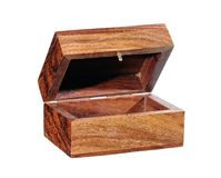 коробка деревянная Стоковые Изображения