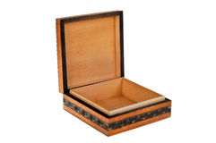 коробка деревянная стоковые изображения rf
