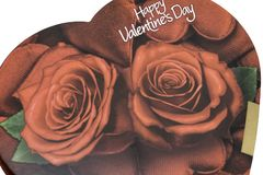 Коробка дня ` s валентинки шоколадов Стоковые Фото