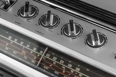 коробка заграждения радио 1980s серебряная Стоковое Изображение RF
