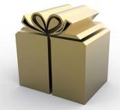 Коробка золота присутствующая Стоковые Изображения RF