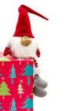 Коробка и карлик подарка на рождество Стоковые Фотографии RF