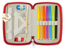 Коробка карандаша иллюстрация штока