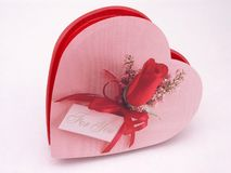 Коробка конфеты Валентайн - подняли 5 стоковые фото