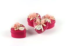 Коробка конфеты формы сердца Стоковое Изображение