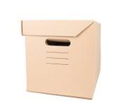 Коробка коробки Брайна изолированная на белизне Стоковая Фотография