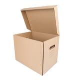 Коробка коробки Брайна изолированная на белизне Стоковые Изображения