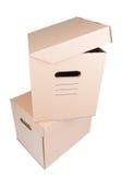 Коробка коробки Брайна изолированная на белизне Стоковое Изображение RF