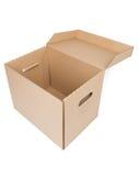 Коробка коробки Брайна изолированная на белизне Стоковые Изображения RF