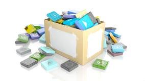 Коробка коробки с скошенными квадратными apps бесплатная иллюстрация