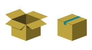 Коробка коробки иллюстрация штока