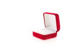 Коробка кольца с бриллиантом Стоковые Изображения RF