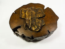 Коробка классического стиля деревянная Стоковое Изображение RF