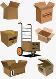 Коробка кладет собрание в коробку Стоковые Фото
