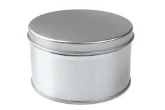 Коробка металла круглая Стоковые Фото
