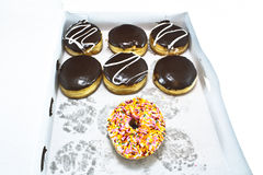 Коробка Donuts Стоковая Фотография RF
