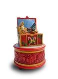 Коробка музыки рождества Стоковое фото RF