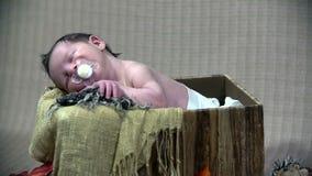 коробка младенца сток-видео