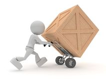 коробка носит деревянное Стоковая Фотография RF