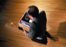 коробка нося содержащ свойство человека личное Стоковое Фото