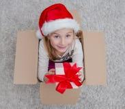 Коробка отверстия рождества Стоковая Фотография