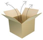 коробка открытая Стоковые Изображения