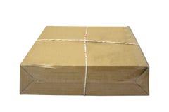 Коробка пакета закрытой картонной коробки или коричневой бумаги Стоковое Изображение RF