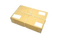 Коробка пакета закрытой картонной коробки или коричневой бумаги Стоковые Изображения